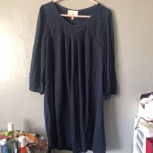 NWT Skies are Blue 3/4 sleeves embroidered dress